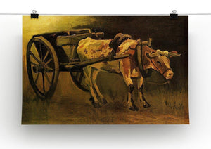 Cart with Red and White Ox by Van Gogh Canvas Print & Poster - Canvas Art Rocks - 2