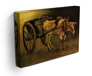 Cart with Red and White Ox by Van Gogh Canvas Print & Poster - Canvas Art Rocks - 3