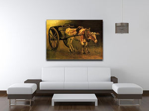 Cart with Red and White Ox by Van Gogh Canvas Print & Poster - Canvas Art Rocks - 4
