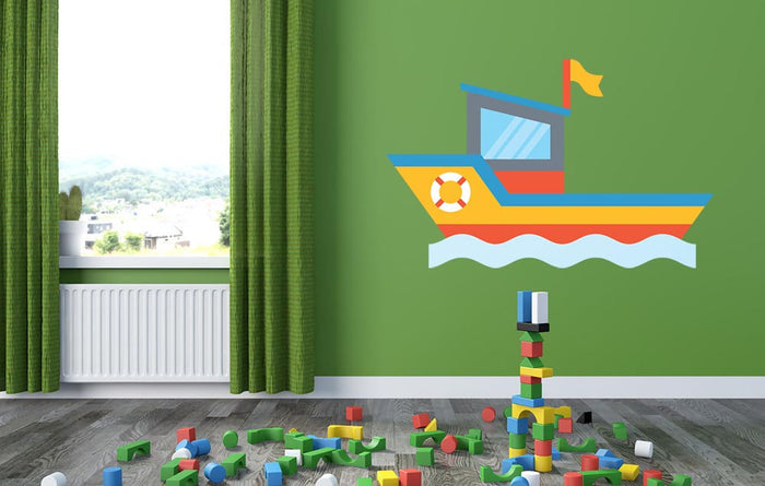 Cartoon Boat Wall Sticker