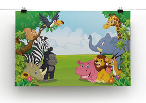 Cartoon collection animal in the jungle Canvas Print or Poster - Canvas Art Rocks - 2