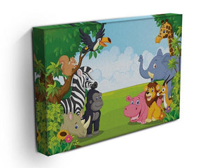 Cartoon collection animal in the jungle Canvas Print or Poster - Canvas Art Rocks - 3