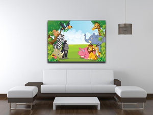 Cartoon collection animal in the jungle Canvas Print or Poster - Canvas Art Rocks - 4