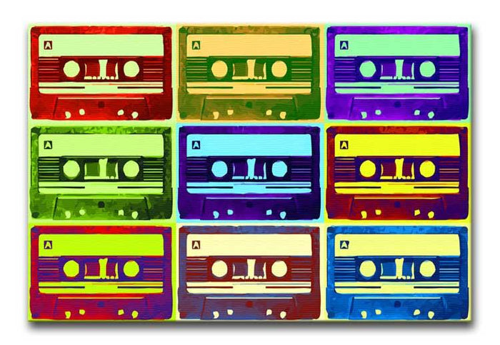Retro Tape Cassettes Canvas Print or Poster