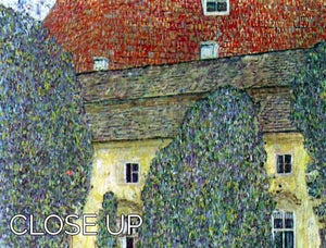 Castle at the Attersee by Klimt 3 Split Panel Canvas Print - Canvas Art Rocks - 3