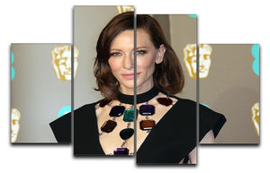Cate Blanchett at the BAFTAs 4 Split Panel Canvas  - Canvas Art Rocks - 1