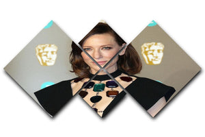 Cate Blanchett at the BAFTAs 4 Square Multi Panel Canvas  - Canvas Art Rocks - 1