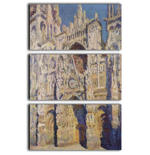 Cathedral at Rouen by Monet 3 Split Panel Canvas Print - Canvas Art Rocks - 1