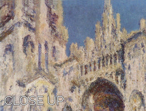 Cathedral at Rouen by Monet 3 Split Panel Canvas Print - Canvas Art Rocks - 3
