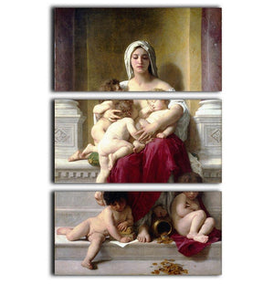 Charity By Bouguereau 3 Split Panel Canvas Print - Canvas Art Rocks - 1