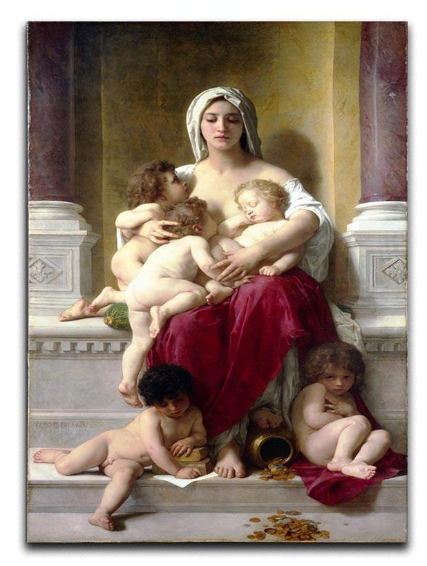 Charity By Bouguereau Canvas Print or Poster  - Canvas Art Rocks - 1