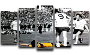 Charlie George 5 Split Panel Canvas  - Canvas Art Rocks - 1