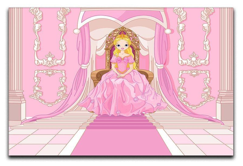 Charming Princess sits on a throne Canvas Print or Poster  - Canvas Art Rocks - 1