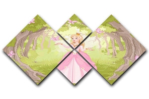 Charming princess a fantastic wood 4 Square Multi Panel Canvas  - Canvas Art Rocks - 1