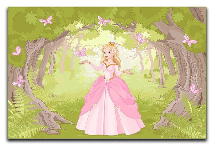 Charming princess a fantastic wood Canvas Print or Poster