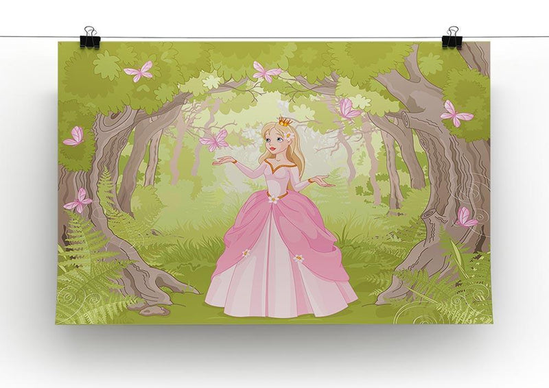 Charming princess a fantastic wood Canvas Print or Poster - Canvas Art Rocks - 2