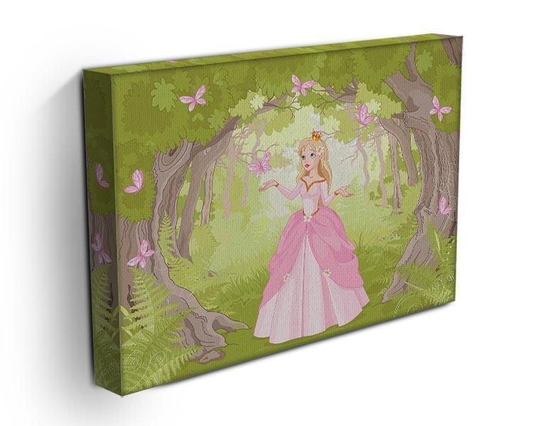 Charming princess a fantastic wood Canvas Print or Poster - Canvas Art Rocks - 3