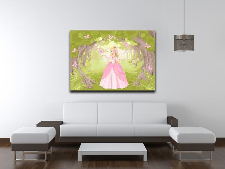 Charming princess a fantastic wood Canvas Print or Poster - Canvas Art Rocks - 4