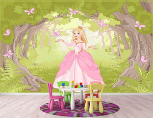 Charming princess a fantastic wood Wall Mural Wallpaper - Canvas Art Rocks - 2
