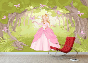 Charming princess a fantastic wood Wall Mural Wallpaper - Canvas Art Rocks - 3