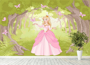 Charming princess a fantastic wood Wall Mural Wallpaper - Canvas Art Rocks - 4