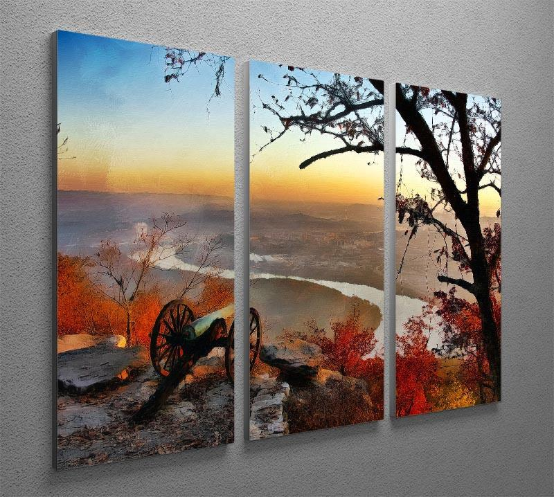 Chattanooga Campaign Painting 3 Split Panel Canvas Print - Canvas Art Rocks - 2