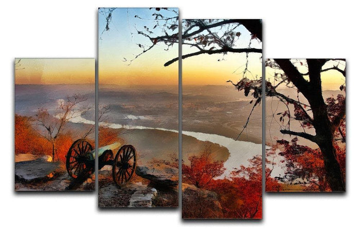 Chattanooga Campaign Painting 4 Split Panel Canvas