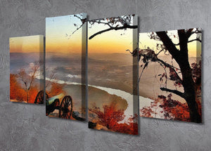 Chattanooga Campaign Painting 4 Split Panel Canvas - Canvas Art Rocks - 2