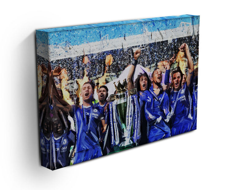 Chelsea FC Premier League Winners 2017 Canvas Print & Poster - US Canvas Art Rocks