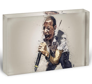 Chester Bennington Linkin Park Acrylic Block - Canvas Art Rocks - 1