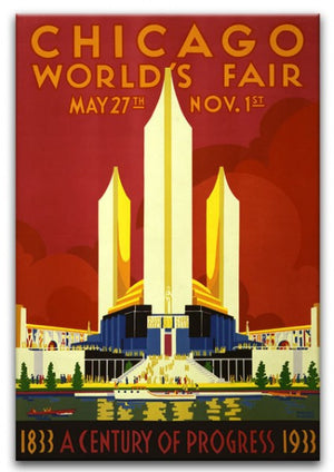Chicago Worlds Fair 1933 Print - Canvas Art Rocks - 1