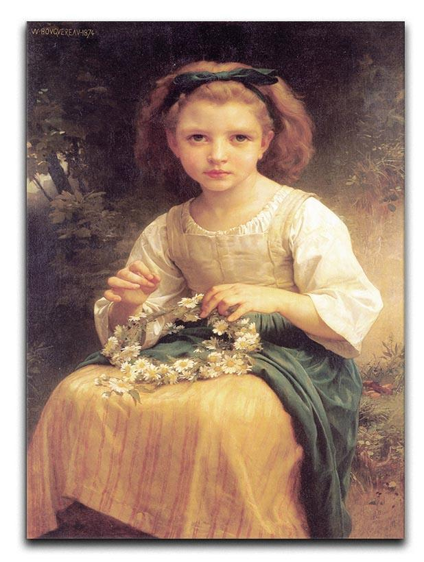 Child Braiding A Crown By Bouguereau Canvas Print or Poster  - Canvas Art Rocks - 1