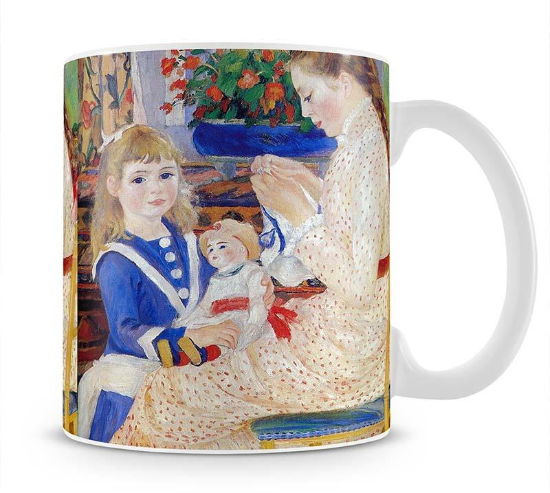 Children in the afternoon in Wargemont Detail by Renoir Cup - Canvas Art Rocks - 1
