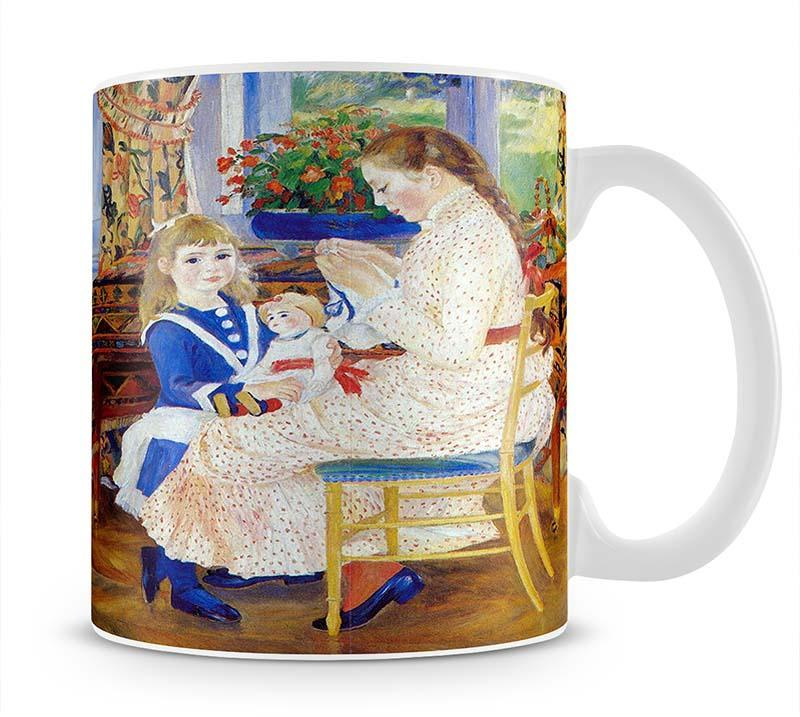 Children in the afternoon in Wargemont by Renoir Cup - Canvas Art Rocks - 1
