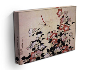Chinese bell flower and dragon-fly by Hokusai Canvas Print or Poster - Canvas Art Rocks - 3