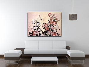 Chinese bell flower and dragon-fly by Hokusai Canvas Print or Poster - Canvas Art Rocks - 4