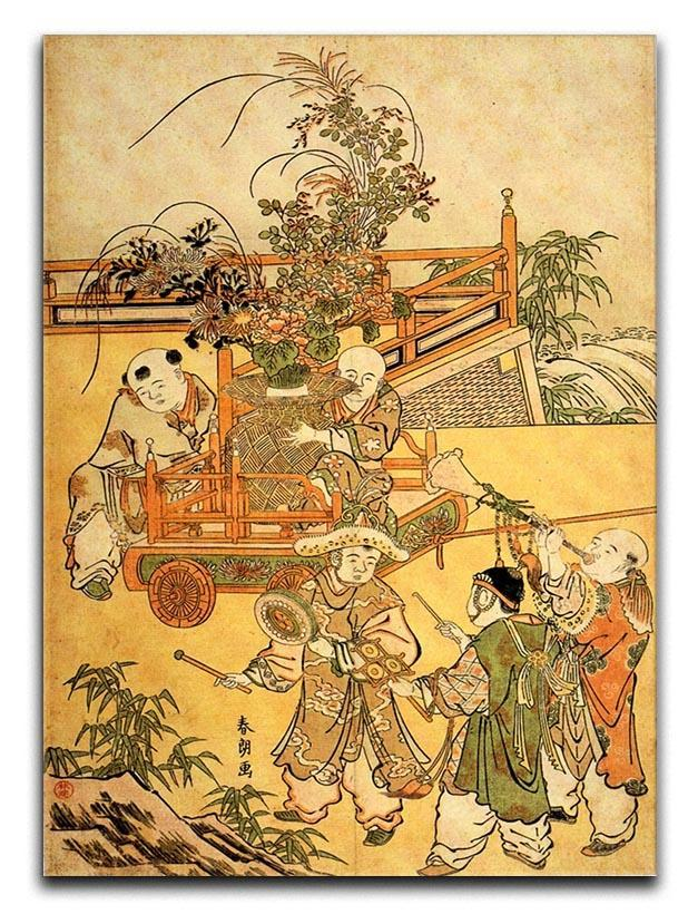 Chinese children by Hokusai Canvas Print or Poster  - Canvas Art Rocks - 1