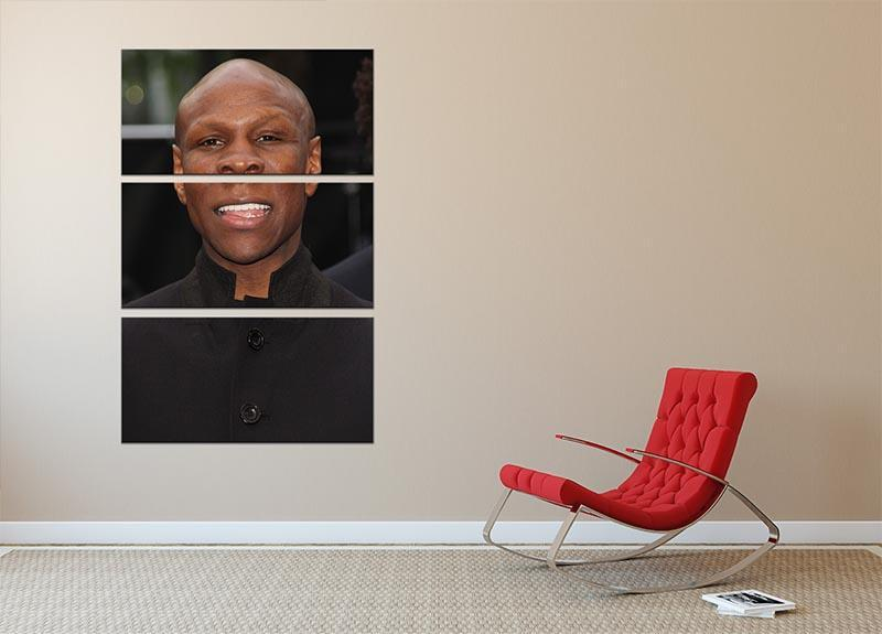 Chris Eubank 3 Split Panel Canvas Print - Canvas Art Rocks - 2