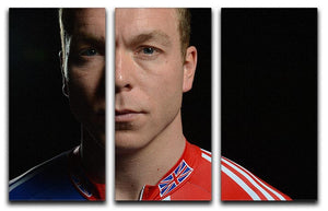 Chris Hoy 2012 3 Split Panel Canvas Print - Canvas Art Rocks - 1