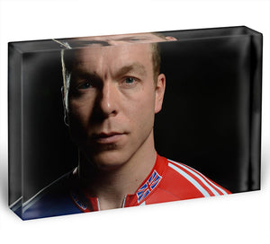 Chris Hoy 2012 Acrylic Block - Canvas Art Rocks - 1