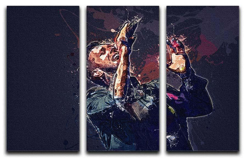 Chris Martin Splatter 3 Split Panel Canvas Print - Canvas Art Rocks - 1