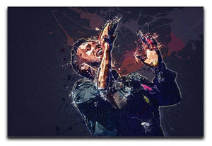 Chris Martin Splatter Canvas Print or Poster  - Canvas Art Rocks - 1