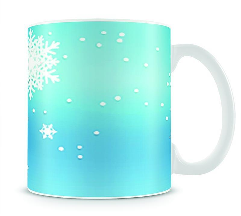 Christmas Blue Snowflakes Mug - Canvas Art Rocks - 1