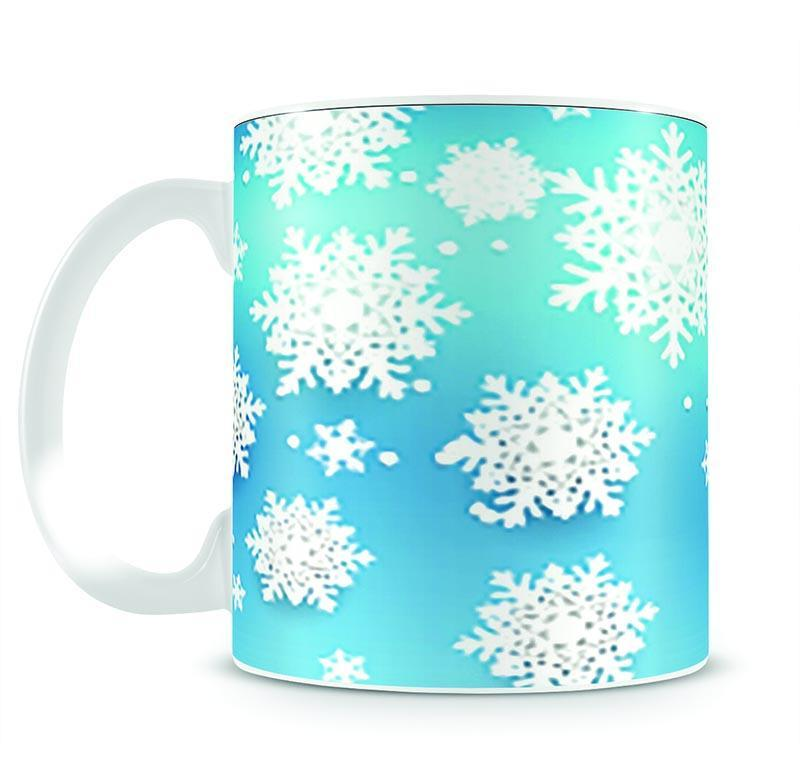 Christmas Blue Snowflakes Mug - Canvas Art Rocks - 2