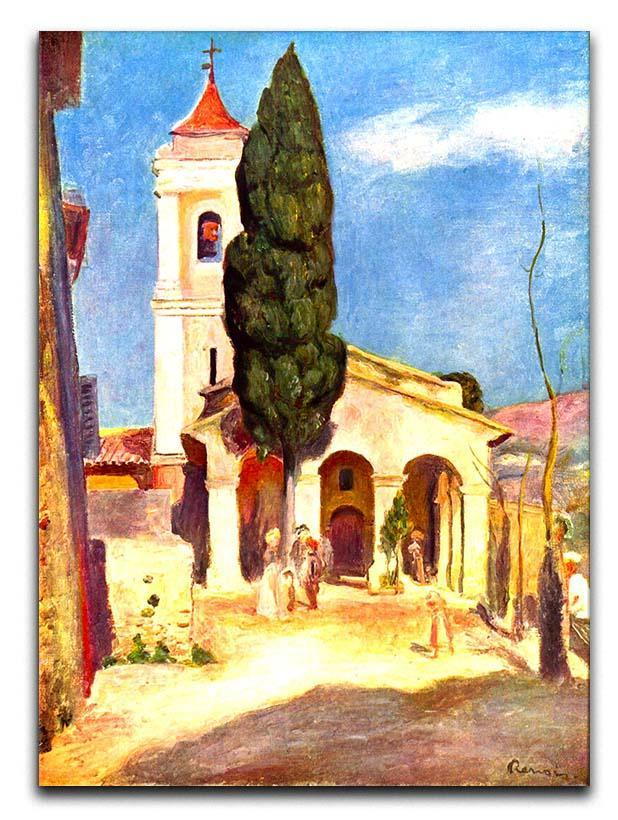 Church in Cagnes by Renoir Canvas Print or Poster  - Canvas Art Rocks - 1