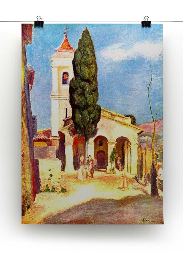 Church in Cagnes by Renoir Canvas Print or Poster - Canvas Art Rocks - 2