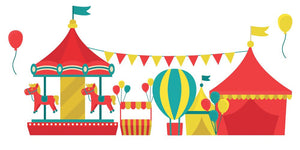 Circus Carousel Wall Decal - Canvas Art Rocks - 2