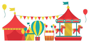 Circus Carousel Wall Decal - Canvas Art Rocks - 3