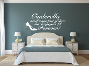 Cinderella Wall Decal - Canvas Art Rocks - 1
