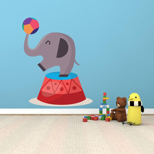 Circus Elephant Wall Decal - Canvas Art Rocks - 1